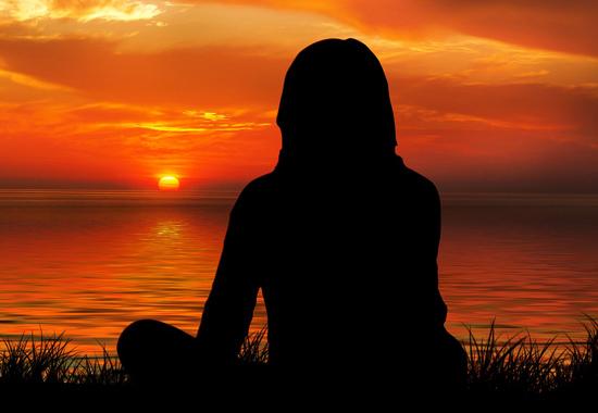 Meditation solnedgang